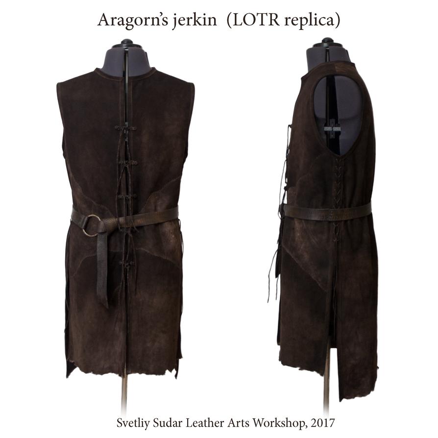 Aragorn leather vest (replica) - Strider's Jerkin by Svetliy-Sudar
