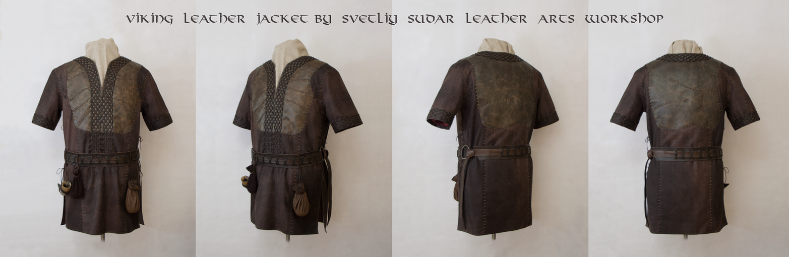 Ragnar Lothbrok Leather Jacket (replica) - Collage by Svetliy-Sudar