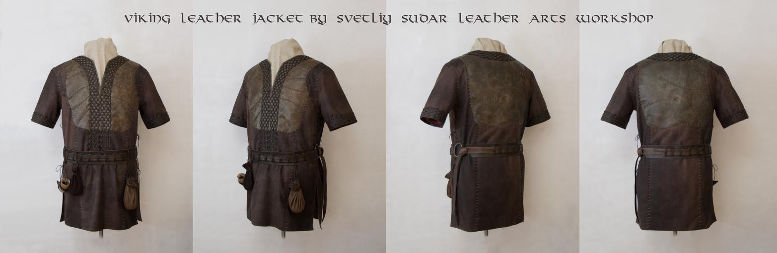 Ragnar Lothbrok Leather Jacket (replica) - Collage by Svetliy-Sudar
