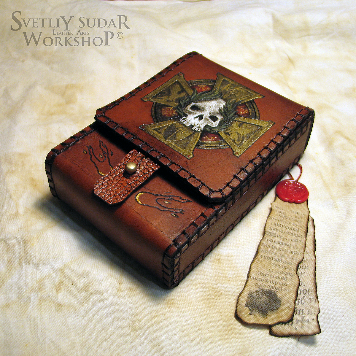 Tarot Leather Deck Box Sigmar by Svetliy-Sudar