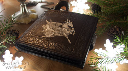 Leather wallet Capricorn