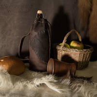 Leather Bottle Holder Medieval Style by Svetliy-Sudar