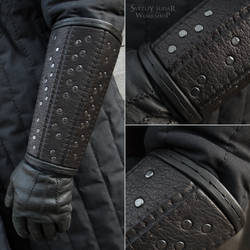 Witcher riveted bracers (inspired Netflix version)