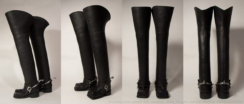 Leather boots (18th century replica) bjd doll