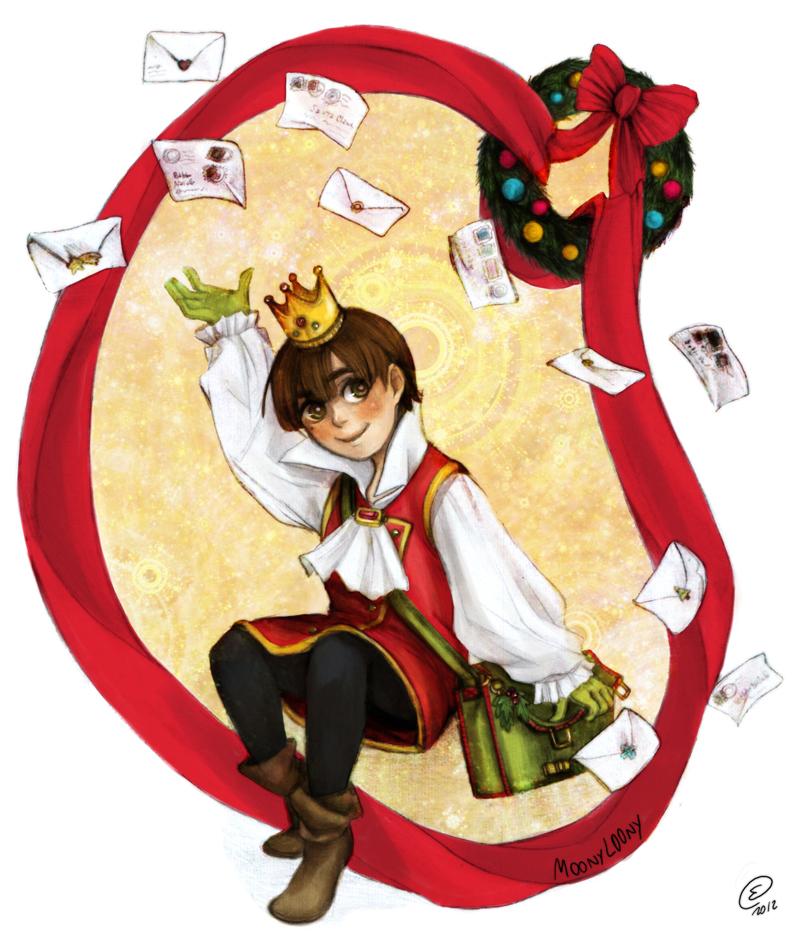 Santa's first postman by MoonyL00ny