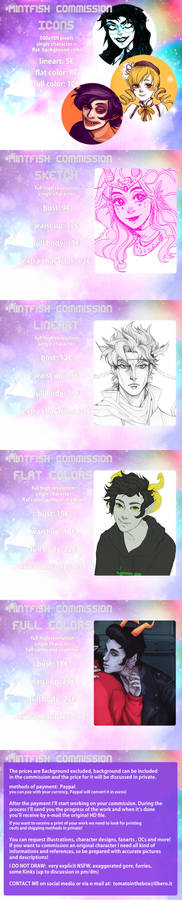 Art Commissions are OPEN!4 SLOTS left!