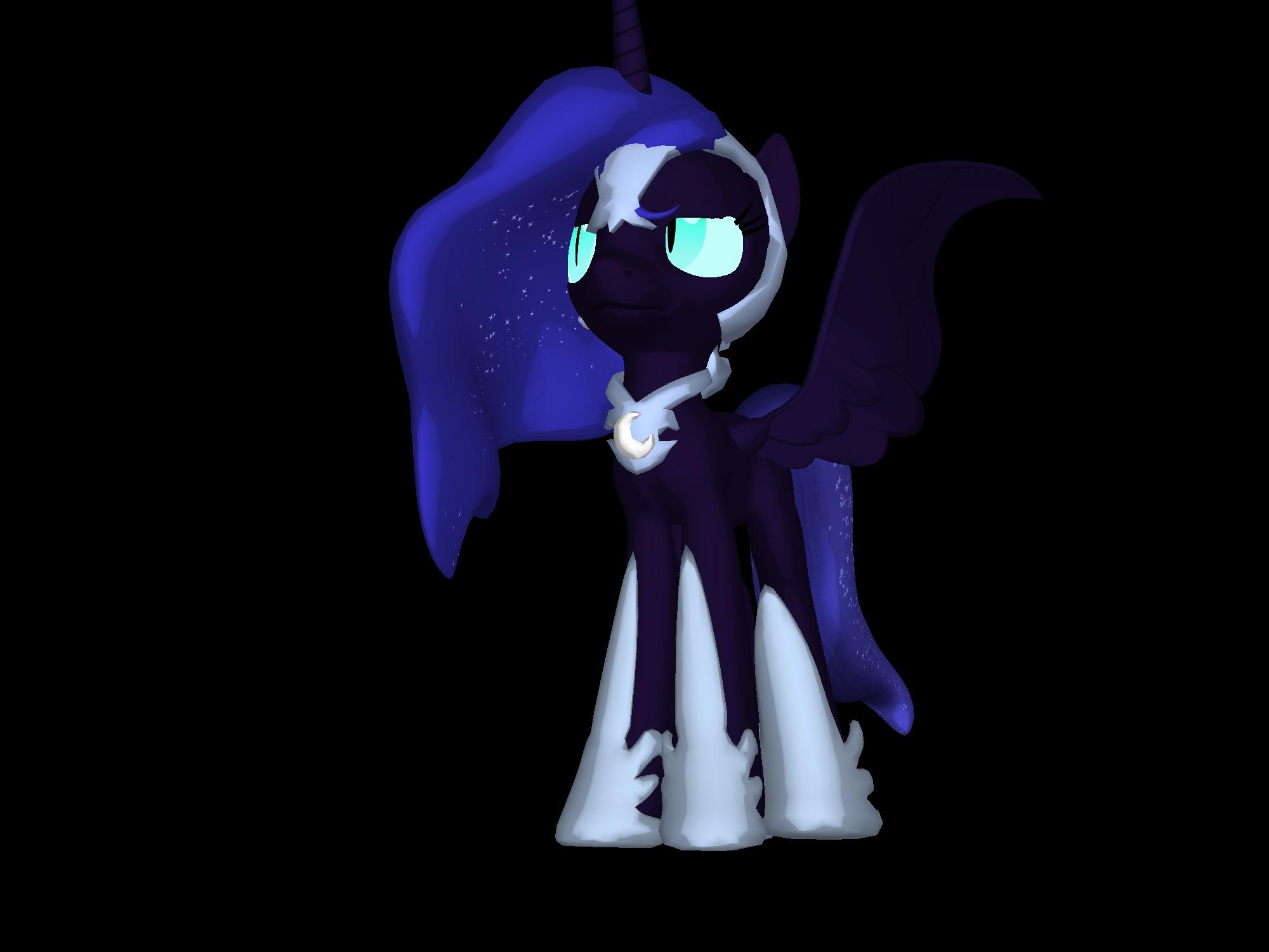 Nightmare Moon 3d Pony Creator By Flower Horse On Deviantart