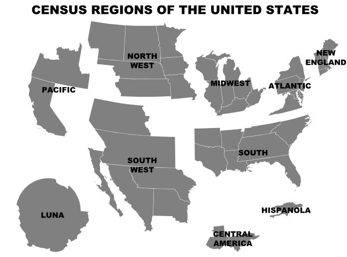 Cavorite Us Census Regions By Iainfluff On Deviantart - Us-census-map-regions
