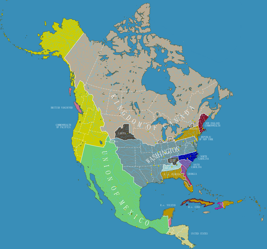 Balkanised North America by IainFluff