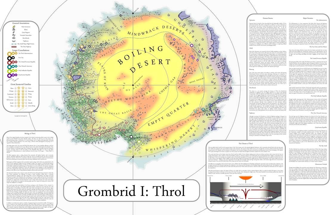 Throl: non-rotating planet by IainFluff