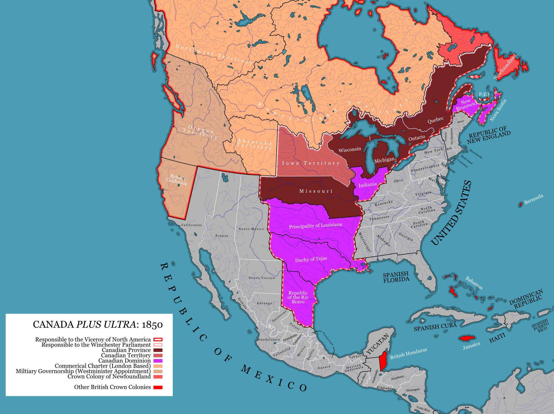Map Of Canada In 1850.Dathicanada1850 Trial By Iainfluff On Deviantart