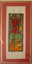 Madhubani in glass