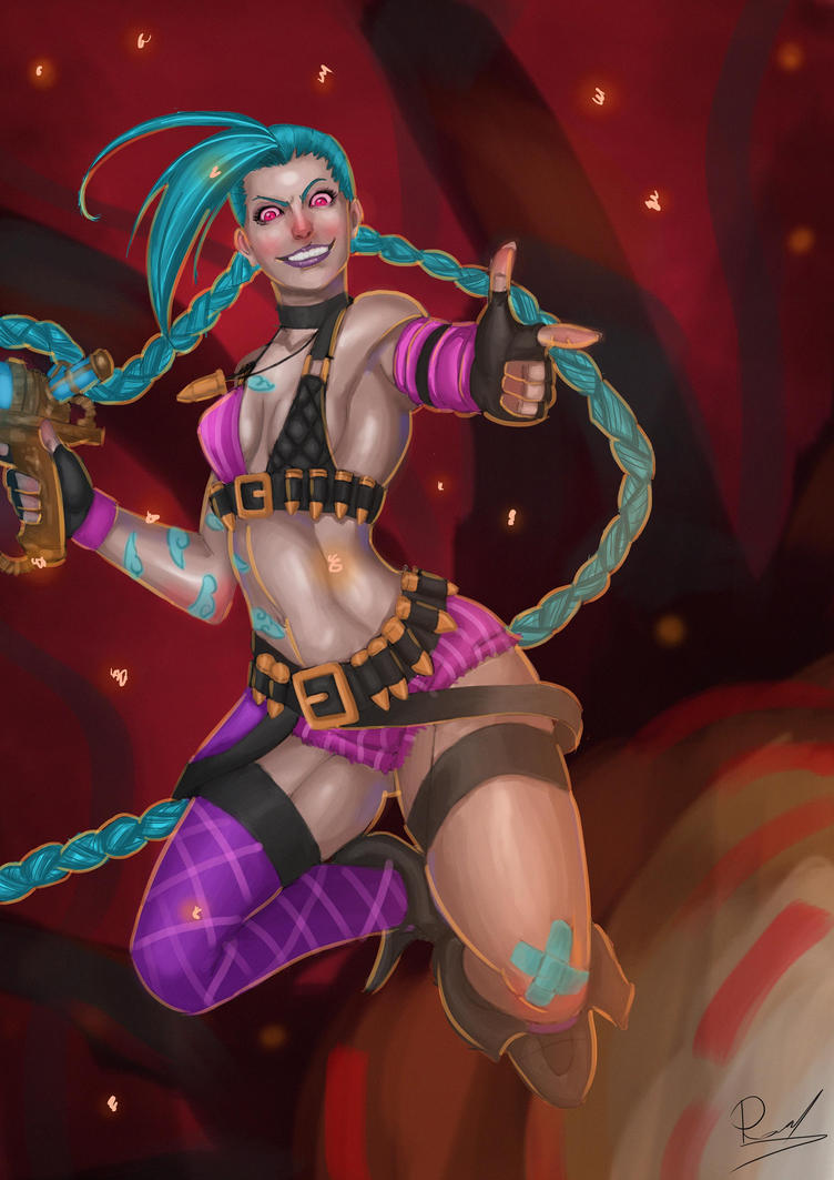 Jinx Fanart by Rauzitos