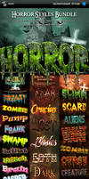 Horror and Halloween Styles Bundle - Text effects