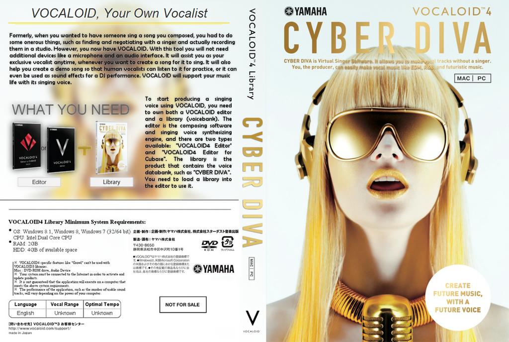 Cyber diva vocaloid4 full boxart by bleedekuh on deviantart - Cyber diva vocaloid ...
