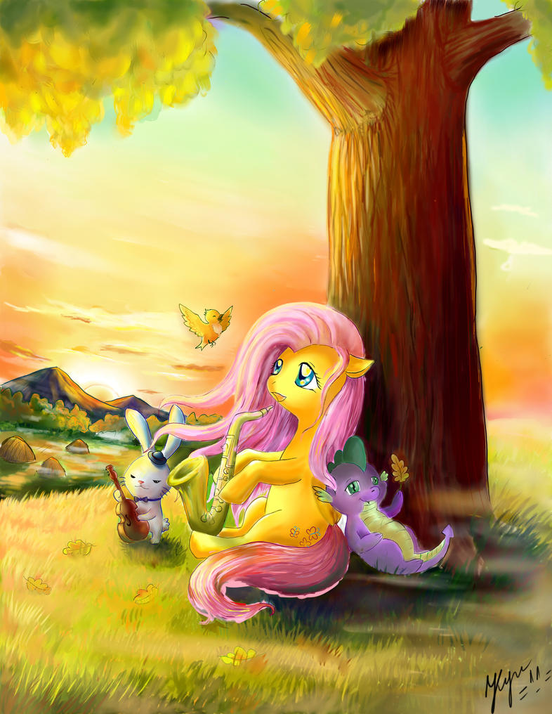 Autumn Jazz morning by UnnameLuna