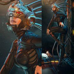 Sci-Fi Girl_Vandeta CoverArt by psygameboy