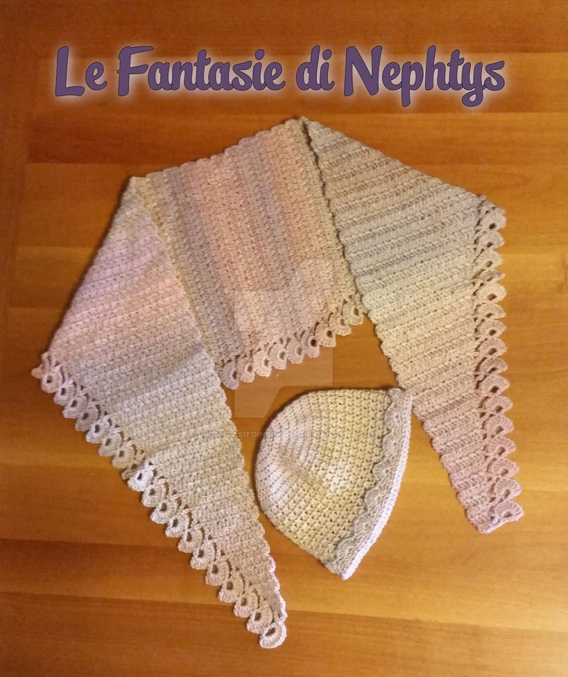 Multicolor Baktus Scarf With Matching Hat By Lefantasiedinephtys On