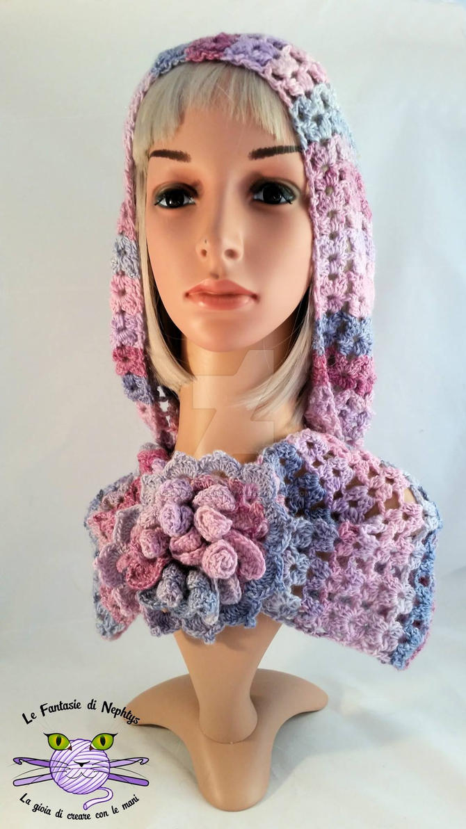 Multicolor Infinity Scarf model Mayflower by lefantasiedinephtys