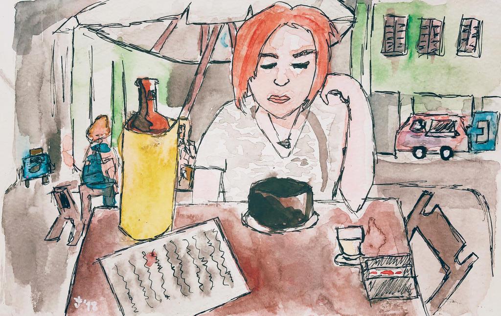 Urban Sketch #1 by syksynsketsi