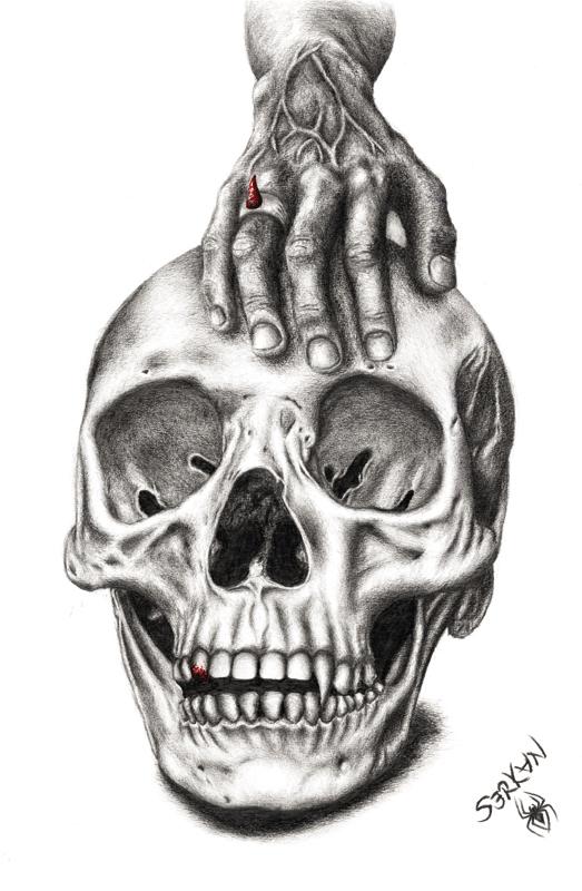 Skull Of Female Vampire by spider03tr
