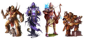 Orc, Undead, Elf, Dwarf_2013 by Markus-Art-Design