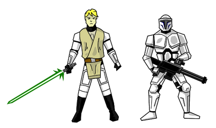 Faces of the Clone Wars by derangedcomics