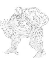 Venom warm-up sketch pencils