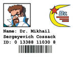 Dr. Cossack's Identification Badge