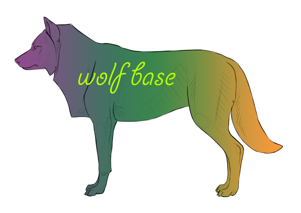 Wolf Lineart : Wolf canine base psd by northernred on deviantart