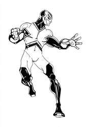Captain Britain - HARD B and W by tryin2get-there