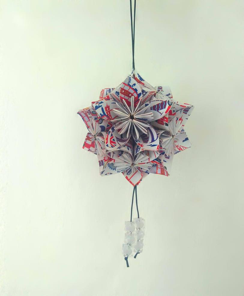 Origami Kusudama by iloveyou1989