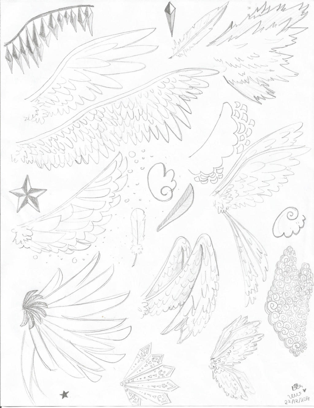Angel's wings sketch by lenaS2anime on DeviantArt