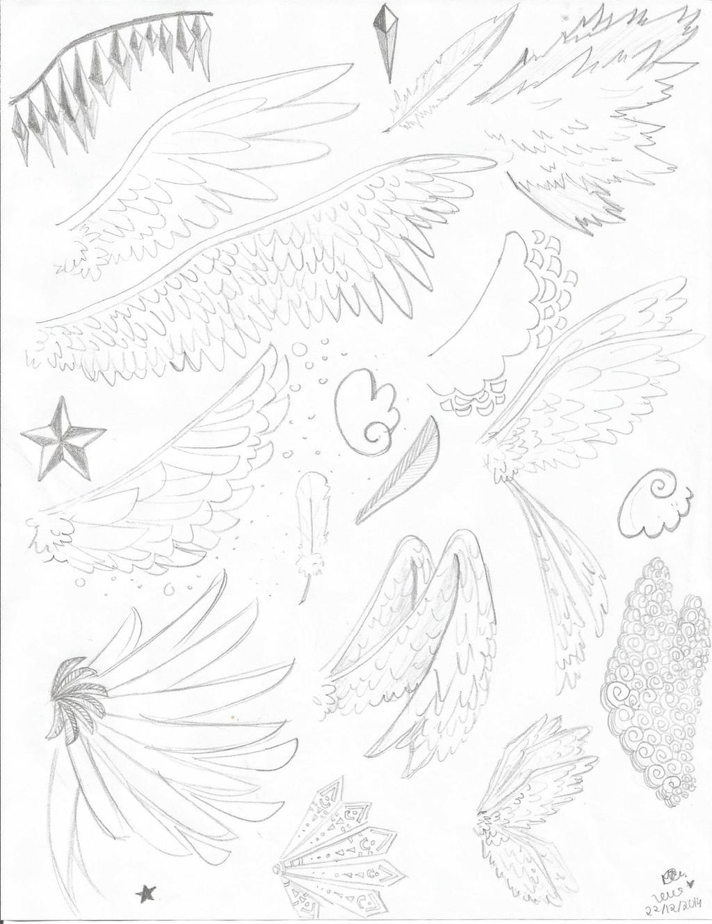 Angel's wings sketch by lenaS2anime on DeviantArt