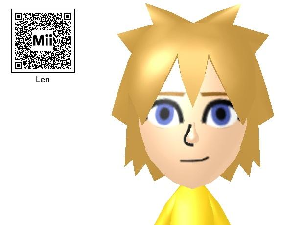 Anime Mii Characters 3ds : Mii kagamine len qr code by magicalnekogurl on deviantart