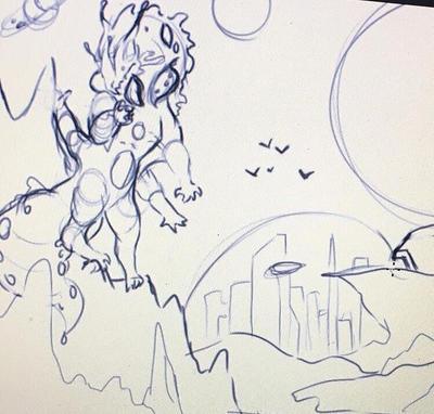 alien world WIP by pinkdotty