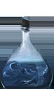 A bottle of stormy ocean water.