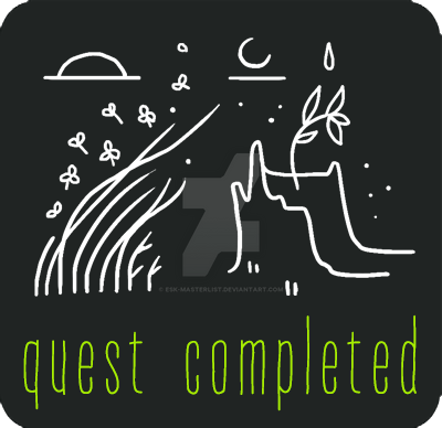 The Plains Biome Event: Firestorm Quest completion badge. It depicts the seedling Vetru planted, and new growth.