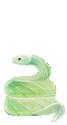 An effigy of a snake.