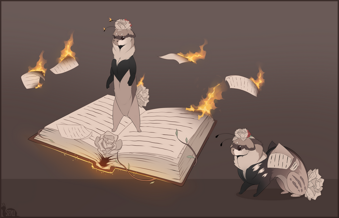 Draw or Write to Enter: the Librarian by Esk-Masterlist