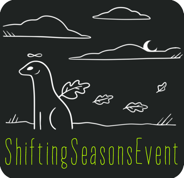 The Shifting Seasons participation badge. An esk watches the changing leaves roll in.
