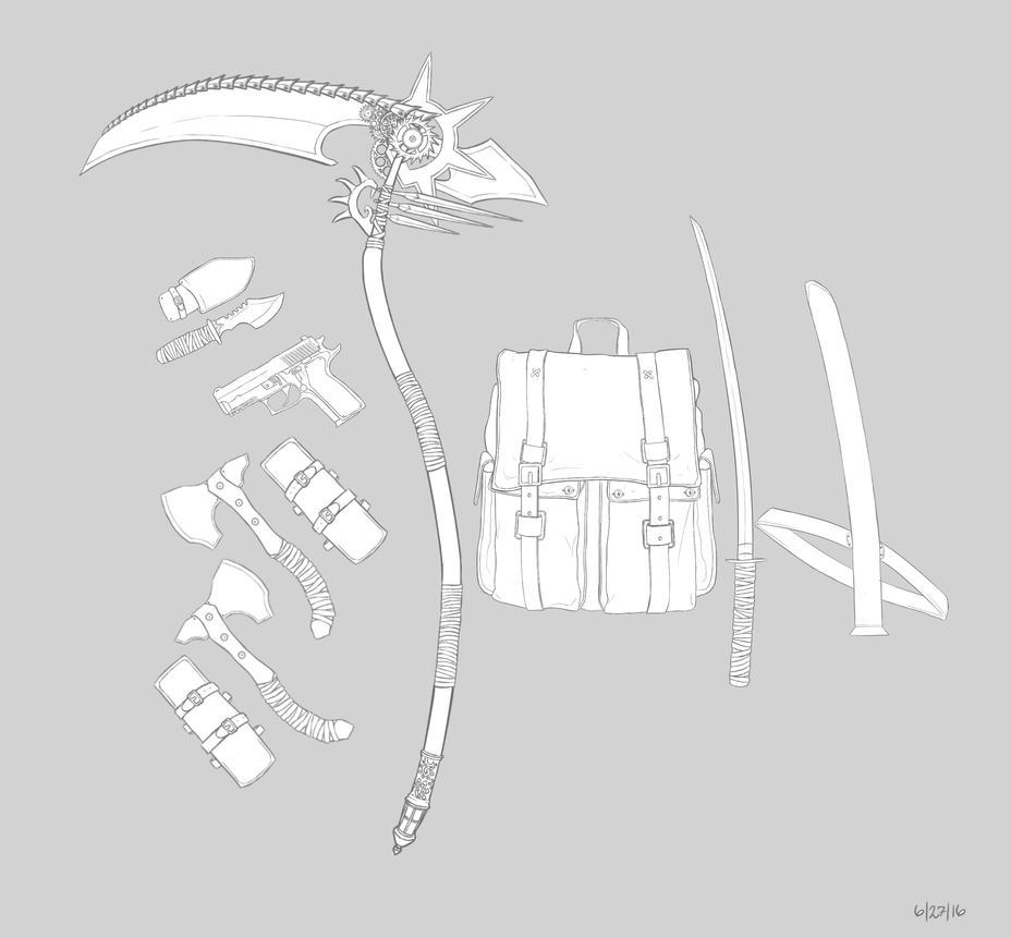 Weaponry by artofiz