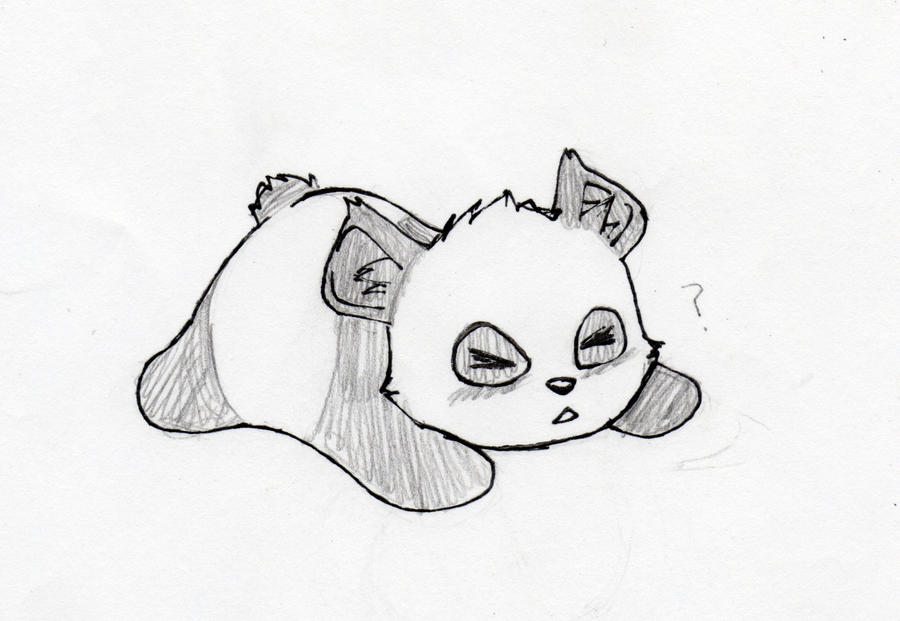 panda oof sketch by adrenalynne on deviantart