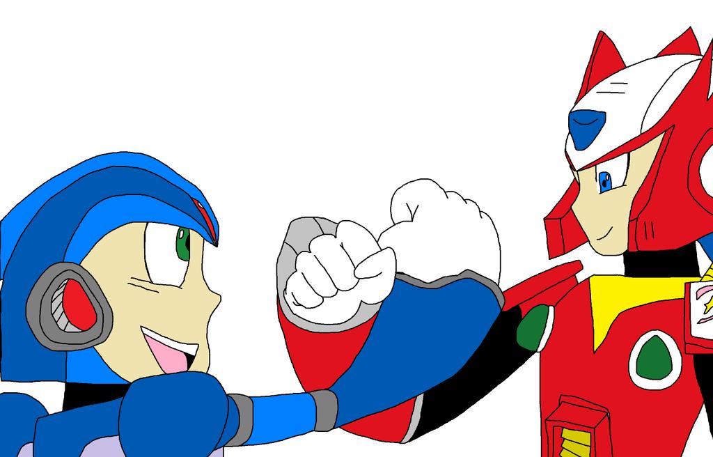 Megaman and Zero by NightmareOnElmStFan