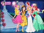 Aurora,Belle,Rapunzel and Ariel