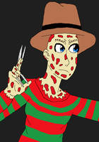 Freddy Krueger-NOES Freddy's revenge by NightmareOnElmStFan