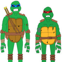 Parasitica Leo and Parasitica Raph (Remade) by NightmareOnElmStFan