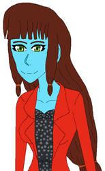 Blue skinned Lila Rossi