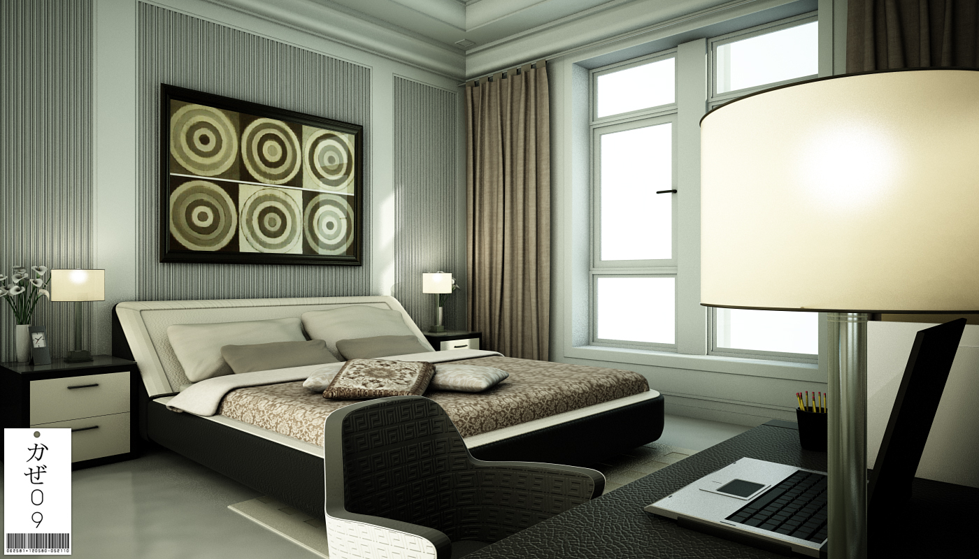 Modern classic bedroom by kaze09 on deviantart for Classic taupe living room
