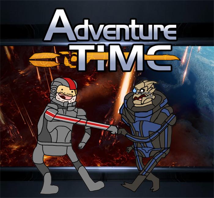 Adventure Time: Mass Effect Ed by ElandoSpoon